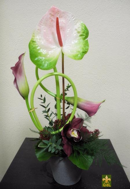 Anthurium , Calla , Fleuron de Cymbidium