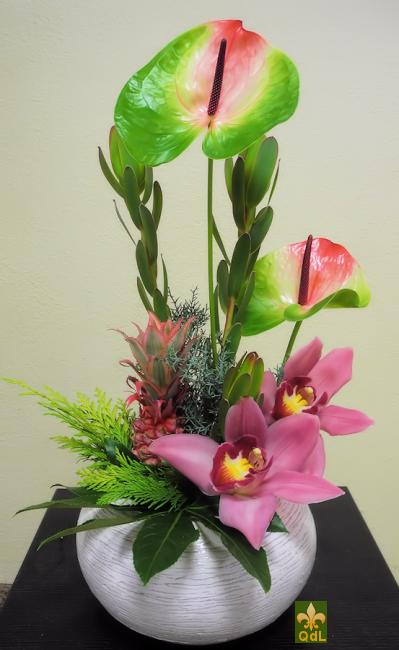 Anthurium ,Ananas ,Fleuron de Cymbidium