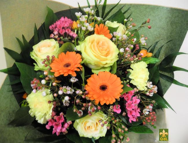 Rose , Germini ,Bouvardia ,Oeillet , Fleur de Cire