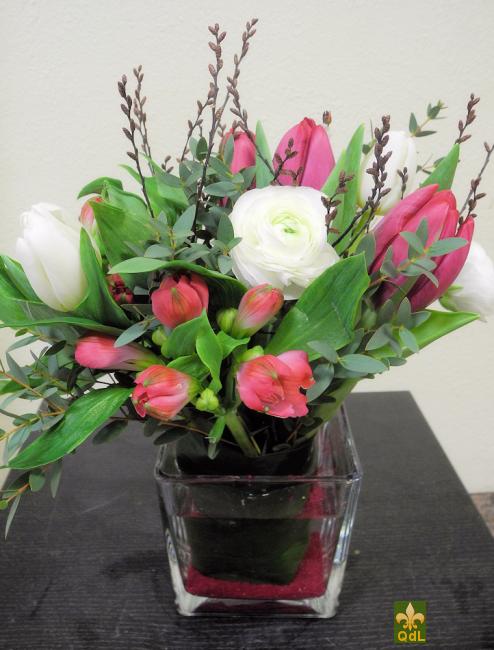 Tulipe , Renoncule ,Alstromeria , Gagel